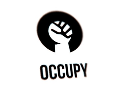 Occupy occupy ows wall street fist revolution letter o