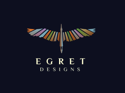 Egret Logo Design wings logo design logos logo crane heron egret