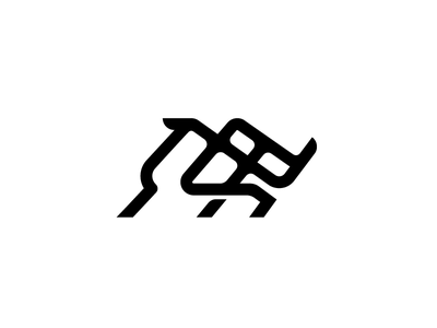 Rhinoceros grid line lineart monogram rhinoceros rhino icon logo weave