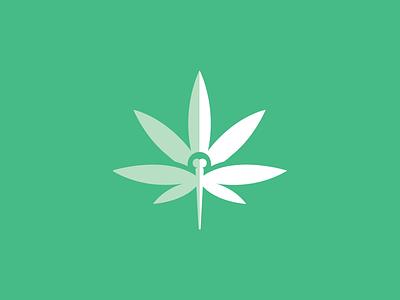 Canna Wellness identity icon natural healthcare insect dragonfly hemp cannabis marijuana green leaf logos logo