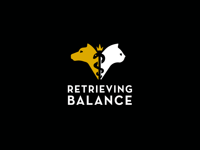 Retrieving Balance Mobile Vet Logo cat dog pet animal veterinary veterinarian