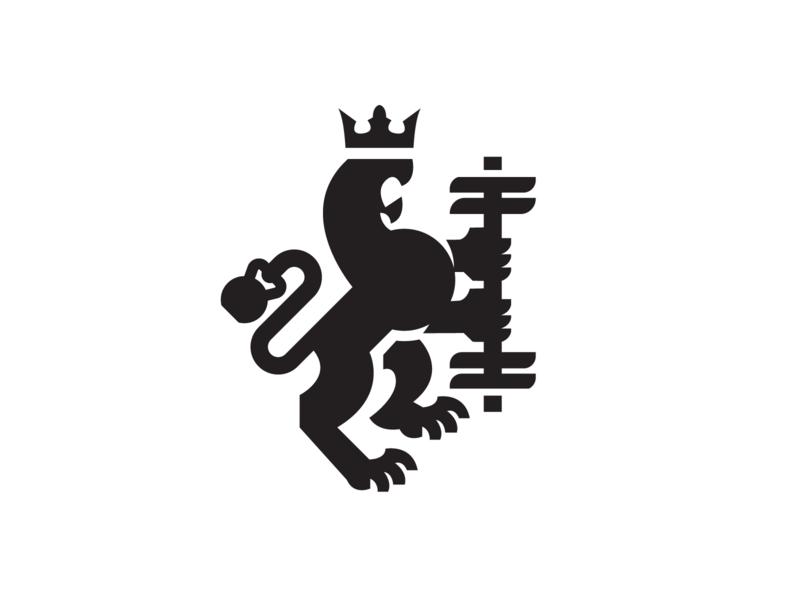 Gym Mark logo strength strong kettlebell kettle bell bodybuilder training crossfit gym coatofarms lion