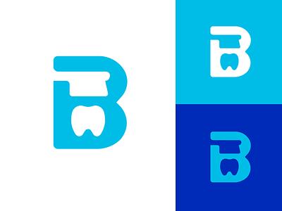 Brushwell letter b tooth teeth brandmark identity logos logo dentist logo dental dentist toothbrush brush