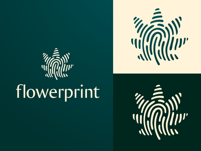 flowerprint identity emblem logotype brandmark logodesign logos logo leaflogo strains strain thc cbd hemp marijuana leaf cannabis