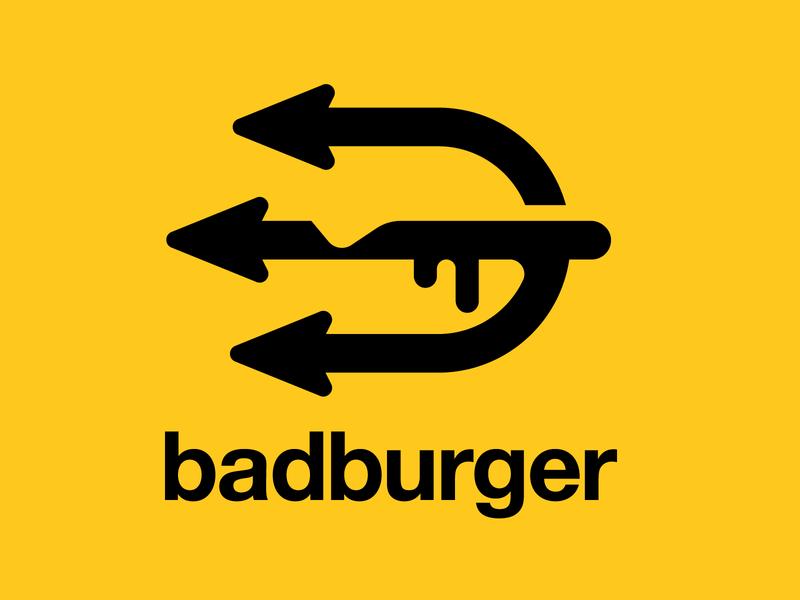 badburger badge identity fastfood chef insignia emblem icon logodesign logos logo hamburger burger devils devil trident