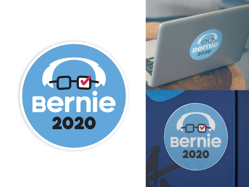Bernie Sanders 2020 Sticker president 2020 logotype logos logo bernie sanders sticker berniesanders decal stickers sticker election sanders feel the bern bernie bernie sanders