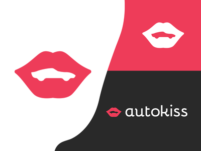 autokiss logotype coywolf logos logo brandmark identity racing vehicle dealership sportscar cars car lips logo lips kiss
