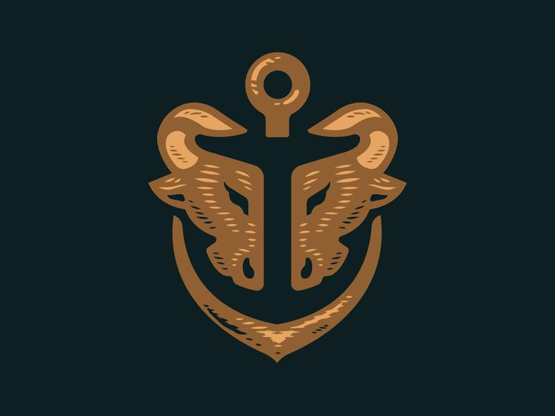 fathomfarm brandmark branding identity hedcut ship boat yacht maritime seal emblem badge crest logos logo engraving woodcut anchor