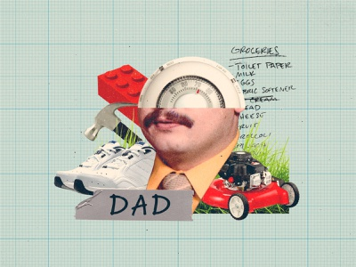 Fathers Day father dad fathersday collage illustration flat