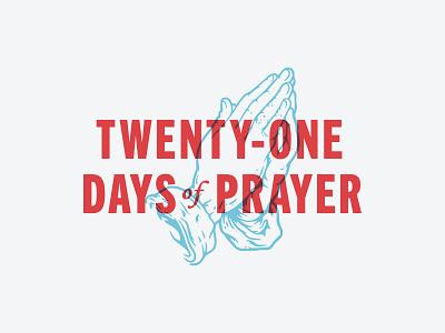 Twenty-One Days of Prayer logo branding design vector illustration