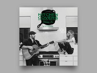 Kitchen Covers Album album cover album art lettering design music nashville type typography illustration