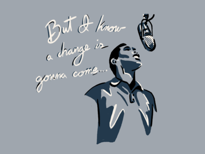 Sam Cooke typography sketch draw change sam cooke procreate illustration