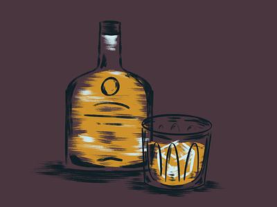 Whiskey nashville cocktail procreate whiskey drink illustration