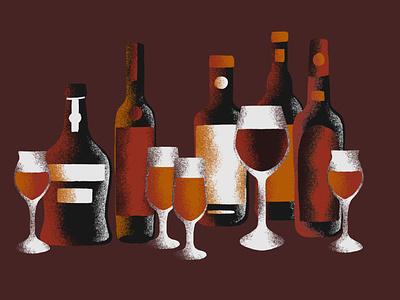 Porto procreate wine cocktail porto nashville illustration