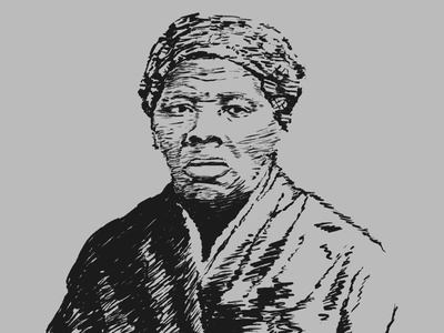 Harriet hero procreate sketch illustration harriet tubman