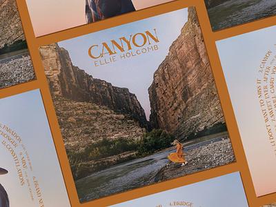 Canyon print packaging design album art album vinyl nashville