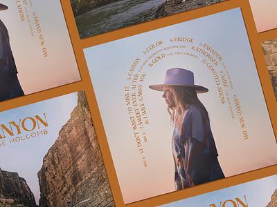 Canyon print music packaging packaging design album art album artwork