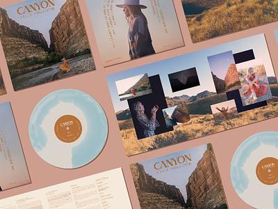 Canyon vinyl layout album cover album art print design package design music