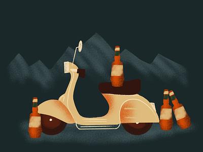 Ti Amo, Amaro cocktail event amaro procreate branding nashville illustration