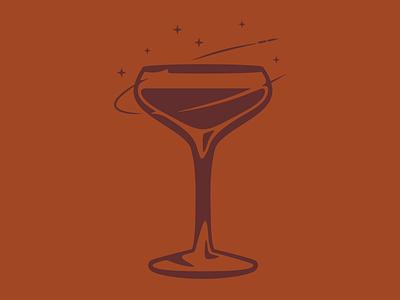 Cheers Hunstville spaceship rocket coup glass cocktail illustration branding