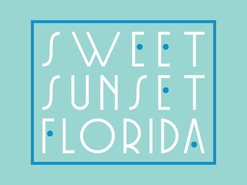 Not Sweet Enough logotype art deco lines branding custom type florida logo