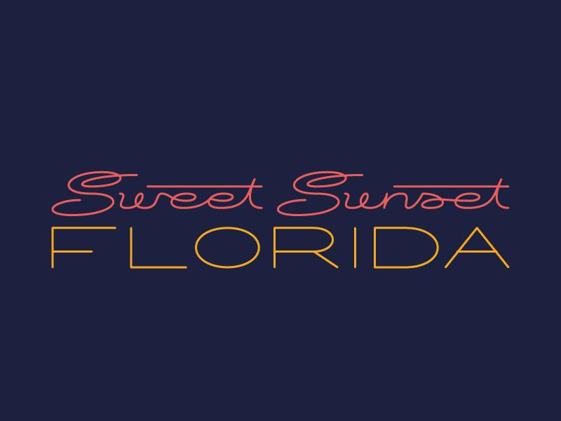 Semi-Sweet logotype logo lines florida custom type branding art deco