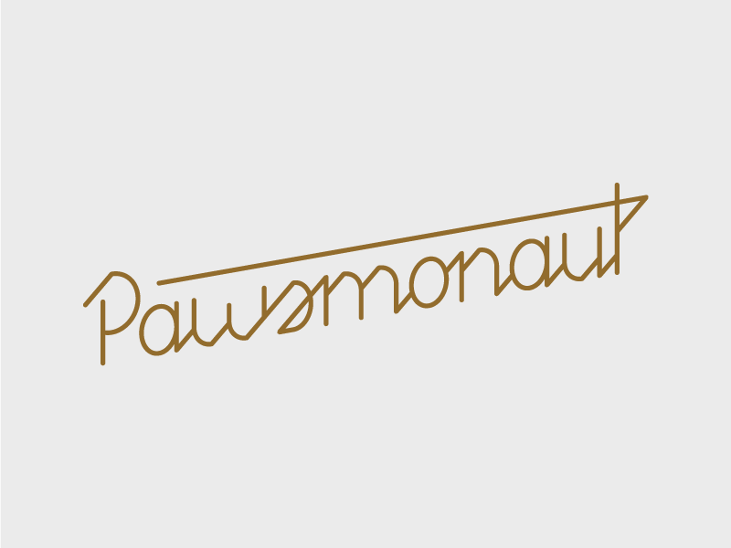 Pawsmonaut Type futuristic modern script paws pup dogs dog space typography type