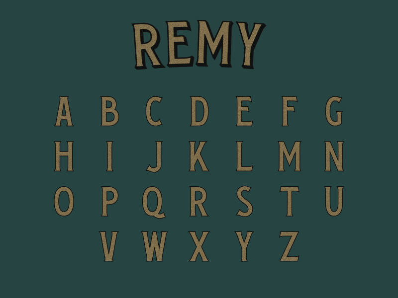 Remy Typeface serifs vintage font type design typeface lettering letters typography type