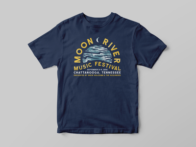 Moon River Music Fest tennessee tshirt shirt design shirt festival music type typography