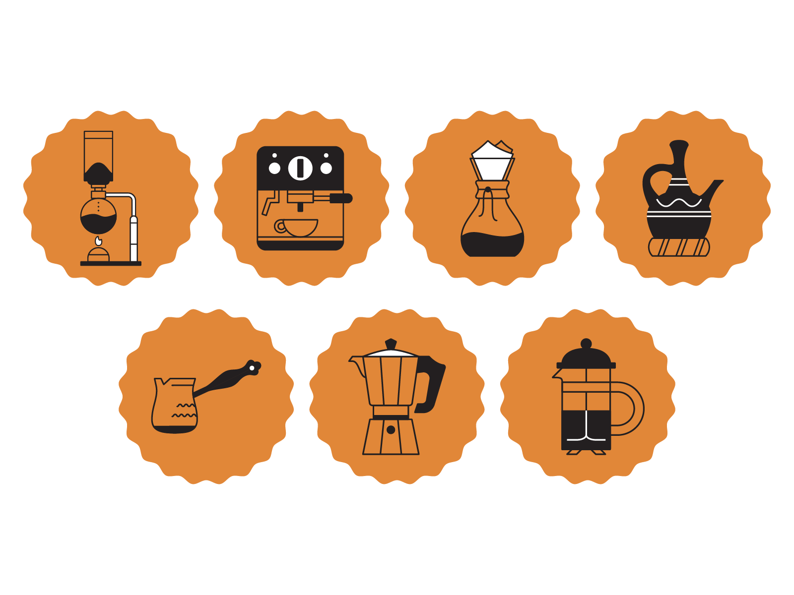 Coffee icons 01