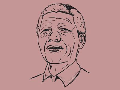 Nelson nelson mandela pen sketch drawing draw procreate illustration