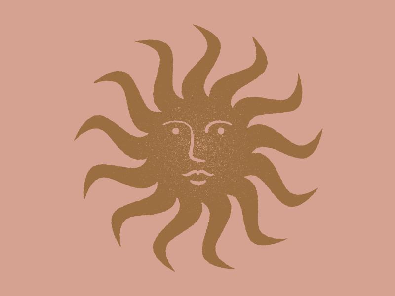 Sun smile face texture vector design illustration sun