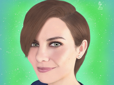 Lauren Cohan Portrait mexico color art digitalart drawing ozgaleano arte fanart dibujo maggie walkingdead