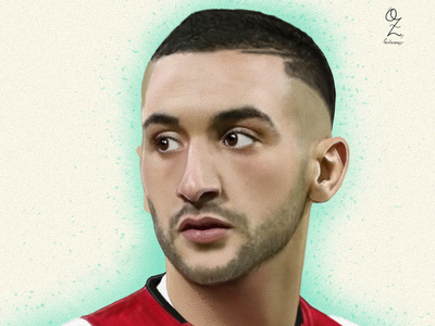 Ziyech mexico color art digitalart drawing ozgaleano arte fanart dibujo football ajax ziyech