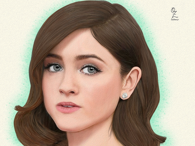 Natalia Dyer mexico color art digitalart drawing ozgaleano arte fanart dibujo strangerthings natalia dyer