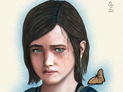 Ellie Last of Us mexico color art digitalart drawing ozgaleano arte fanart dibujo last of us ellie