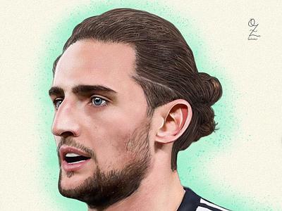 Rabiot color art digitalart drawing ozgaleano arte fanart dibujo france football juve rabiot