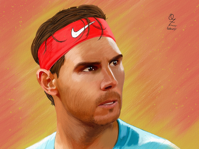 Nadal Oz Galeano illustration mexico art digitalart drawing ozgaleano arte fanart dibujo sports tennis nadal