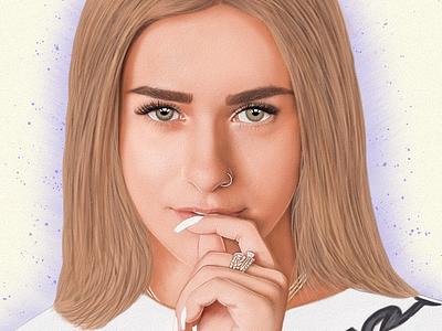 Yasmin Scorse retrato portrait mexico digitalart drawing ozgaleano arte fanart dibujo model yasmin scorse