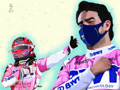 Checo Pérez Oz Galeano Portrait drawing illustration art digitalart drawing ozgaleano arte fanart dibujo race mexico f1 checo perez