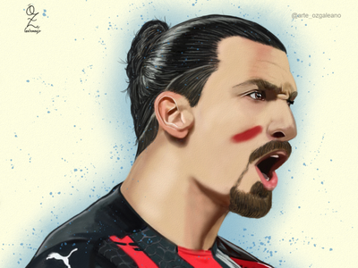 Ibra Oz Galeano mexico art digitalart drawing ozgaleano arte fanart dibujo football milan futbol ibrahimovic