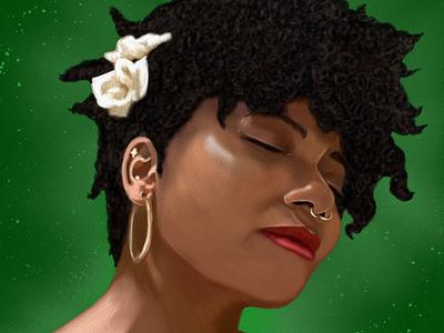 Portrait Oz Galeano model illustration mexico art digitalart drawing ozgaleano arte dibujo portrait retrato