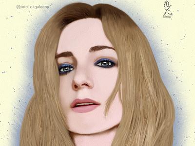 Angela Portrait Drawing Oz Galeano illustration design art digitalart drawing ozgaleano fanart arte dibujo angela