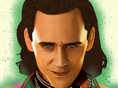 Loki Portrait drawing Oz Galeano illustration design art digitalart drawing ozgaleano fanart arte dibujo marvel loki