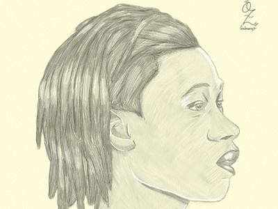 Camavinga Portrait drawing Oz Galeano illustration design art digitalart drawing ozgaleano fanart arte dibujo real madrid france football camavinga