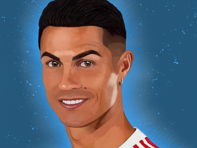 Cristiano Ronaldo Portrait drawing by Oz Galeano illustration design art digitalart drawing ozgaleano fanart arte dibujo football manchester united cristiano ronaldo