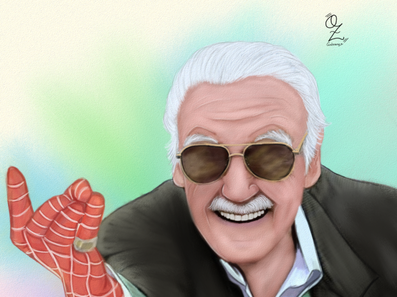 Stan Lee mexico color digitalart portrait retrato fanart ozgaleano drawing dibujo arte marvelcomics spiderman marvel stanlee
