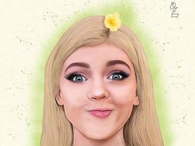 Loren digitalart diseño color portrait retrato fanart ozgaleano drawing art dibujo arte model loren