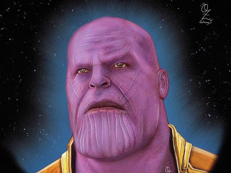 Thanos mexico diseño digitalart color fanart ozgaleano drawing art dibujo arte avengers marvel thanos