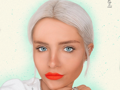 Mikaela Richter design illustration retrato portrait ozgaleano diseño mexico digitalart color fanart drawing art dibujo arte model mikaela richter